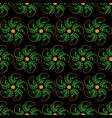 seamless abstract floral orange-green pattern vector image vector image
