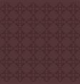 seamless dark maroon pattern of floral diamonds vector image