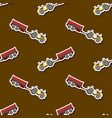 seamless pattern with farm tractor and trailer vector image vector image