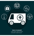 set online services medical isolated vector image vector image