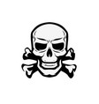 skull and crossbones symbol jolly roger pirate vector image vector image
