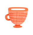 small ceramic cup for drinking tea pottery for vector image vector image