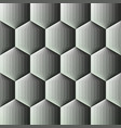 smooth color gradient hexagon background vector image vector image