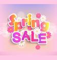 spring sale label 50 percent discount vector image