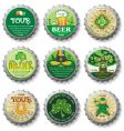 St. Patrick's Day bottle caps vector image vector image