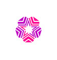 star color logo abstract star color icon vector image vector image