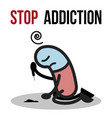 stop addiction cocaine conceptual vector image vector image
