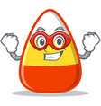 super hero candy corn character cartoon vector image
