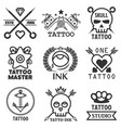 Tattoo studio salon icon templates skull