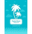 Tropical beach palms sign vector image vector image