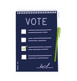 vote document bulletin concept cute cartoon list vector image