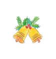 watercolor christmas bells vector image
