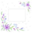 watercolor flowers are purple for wedding invitat vector image