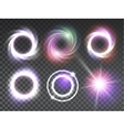 Isolated transparent glowing light effects set vector image