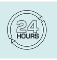 24 hours design vector image