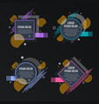 abstract frames for sale styled banners labels vector image vector image