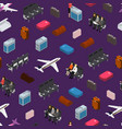 airplane interior elements with people seamless vector image vector image