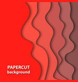 background with bright deep red color paper cut vector image vector image