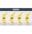 Banana Funny cartoon fruits Organic food vector image vector image