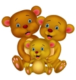 Bear family cartoon vector image vector image