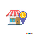 bitcoin accepted shop flat icon vector image