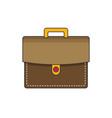briefcase flat icon vector image vector image