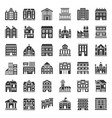 building construction solid icon set 13 vector image vector image