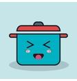 cartoon pot cooking with facial expression vector image