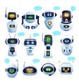 chat bot or chatbot robot cartoon characters vector image