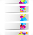 Collection of cards with colorful cubes vector image vector image