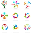 collection of social media icons vector image vector image