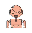color robot face with technology chest design vector image