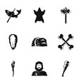 common progenitor icons set simple style vector image vector image