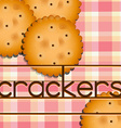 Crackers vector image