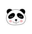 cute adorable panda vector image