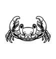 cute crab cartoon silhouette vector image vector image
