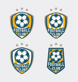 football club logo badges set vector image vector image