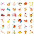 funny icons set cartoon style vector image vector image