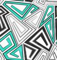 gray geometric seamless pattern with grunge effect vector image vector image
