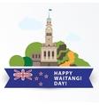 Happy Waitangi day 6 February New Zeland vector image vector image