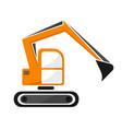 hydraulic tracked excavator of orange color vector image vector image