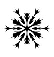 isolated simple snowflake vector image vector image