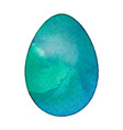 isolated watercolor egg vector image vector image