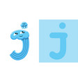 j is for jellyfish letter j jellyfish cute vector image