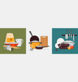 kitchen utensils design concept vector image
