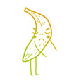 line kawaii cute angry banana fruit vector image vector image