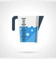 liquids measuring cup flat color icon vector image vector image