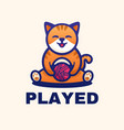 logo played simple mascot style vector image