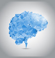 low poly brain with connecting dots vector image vector image