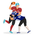 man kick his opponent american football game vector image vector image